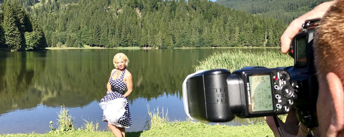 Fotograf am Thiersee bei Kufstein